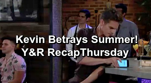 The Young and the Restless Spoilers: Thursday, June 20 Recap – Lola Loses Engagement Ring – Kevin Thwarts Phyllis – Adam and Nate's Deal