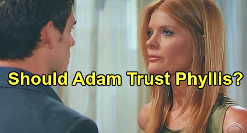 The Young and the Restless Spoilers: Phyllis Offers To Join Adam's Newman Family Takedown Team - Can He Trust Her?