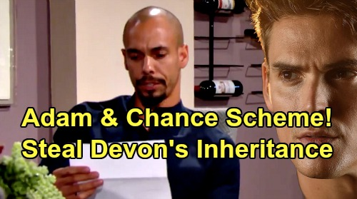 The Young and the Restless Spoilers: Adam & Chance Scheme To Get Katherine's Money - Devon's Fortune At Risk