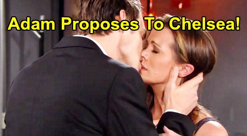 The Young and the Restless Spoilers: Adam Proposes to Chelsea – Engagement Is Calm Before 'Chadam' Storm?