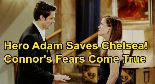 The Young and the Restless Spoilers: Adam Saves Chelsea from Danger – Connor's Deadly Fears Come True?