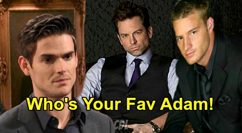 The Young and the Restless Spoilers: Battle of the Adam Newmans – Has Mark Grossman Won You Over - Do You Prefer Michael Muhney or Justin Hartley?