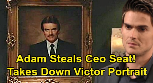 The Young and the Restless Spoilers: Adam Steals Newman CEO Position - Takes Down Victor's Portrait, Puts Up His Own