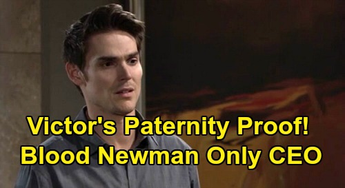 The Young and the Restless Spoilers: Victor Cooks Up Paternity Proof, Shoves CEO Adam Out - Blood Newman Only Clause?