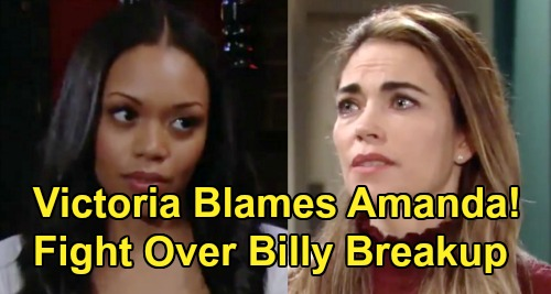 The Young and the Restless Spoilers: Victoria Blames Amanda - Confrontation Over Billy Breakup Gets Wild