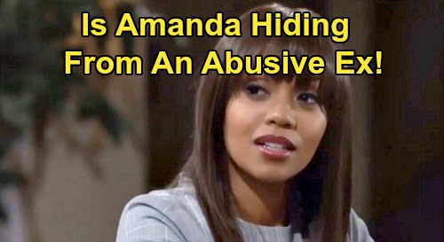 The Young and the Restless Spoilers: What's Amanda Hiding - Is She Running From An Abusive Ex?