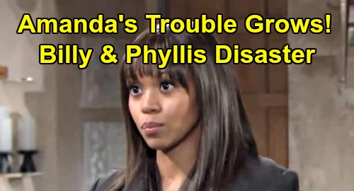 The Young and the Restless Spoilers: Amanda's Trouble Grows - Friendships With Billy & Phyllis Lead To Disaster