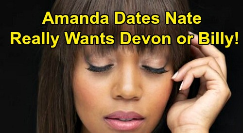 The Young and the Restless Spoilers: Nate Romances Amanda - But Are Billy or Devon Her Love Endgame?