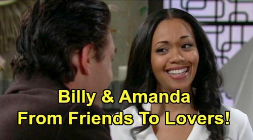 The Young and the Restless Spoilers: Billy & Amanda Land in Bed Together – Ripley Nightmare Pulls Them Closer, Friends to Lovers?