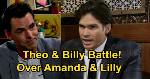 The Young and the Restless Spoilers: Theo & Billy Jealous Battle Over Lily & Amanda - Sparks Fly, Chancellor Love Quad?