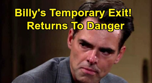 The Young and the Restless Spoilers: Billy's Temporary Exit - Returns to Genoa City, Faces Amanda and Ripley Danger