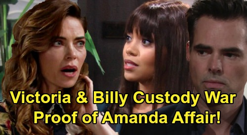 The Young and the Restless Spoilers: Victoria and Billy's Custody Battle – Proof of Amanda Affair Adds to Billy's Problems