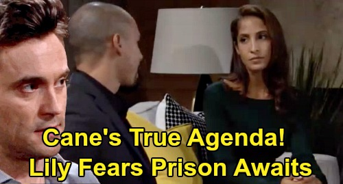 The Young and the Restless Spoilers: Cane's True Agenda Revealed - Lily Fears Prison Awaits