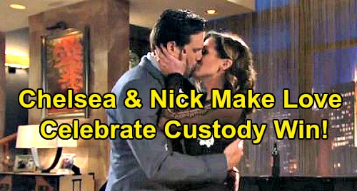The Young and the Restless Spoilers: Nick and Chelsea Celebrate Christian Custody Win By Making Love - Watch Out For Adam