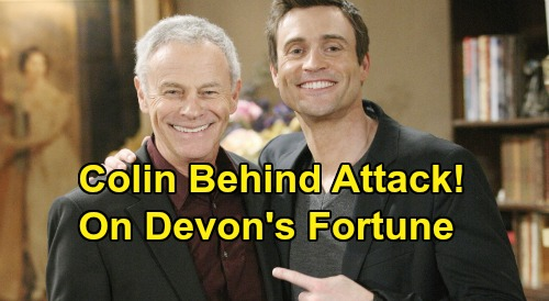 The Young and the Restless Spoilers: Colin Behind Attack On Devon's Fortune - Jill Shocked By Revelation?