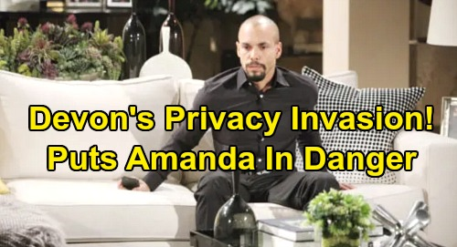 The Young and the Restless Spoilers: Devon Gets Amanda Spy Dossier - Investigation Puts Lawyer In Deadly Danger?