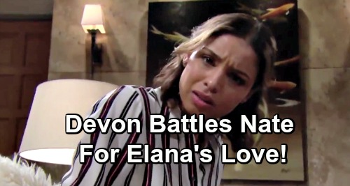 The Young and the Restless Spoilers: Devon Battles Cousin Nate for Elena's Love - Dr. Dawson Gets Two Suitors