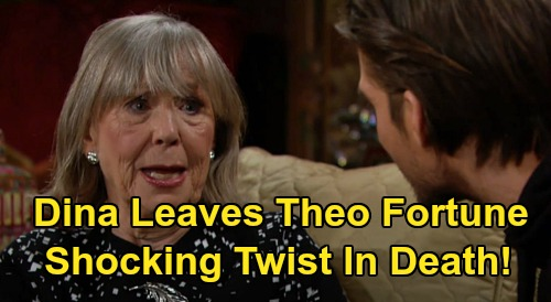 The Young and the Restless Spoilers: Dina Leaves Theo Fortune, Death Reveals Shocking Twist – Abbotts Furious Over Grandson's Payday?