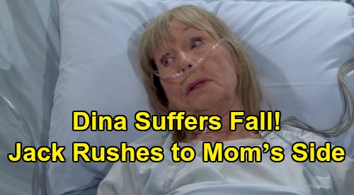 The Young and the Restless Spoilers: Dina Suffers Fall, Jack Rushes to Mother's Side – Family Crisis Brings Shocker