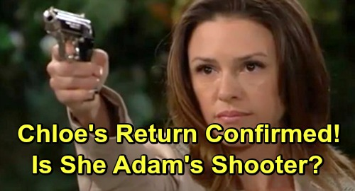The Young and the Restless Spoilers: Elizabeth Hendrickson's Return Confirmed – Is Chloe Mitchell Adam Newman's Shooter?