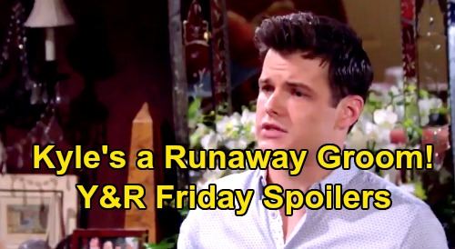 The Young and the Restless Spoilers: Friday, August 16 – Kola Wedding Day Drama – Theo's Threat - Kyle The Runaway Groom