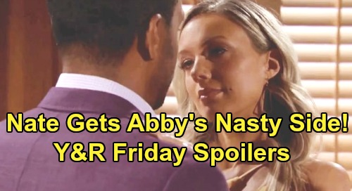 The Young and the Restless Spoilers: Friday, August 9 – Adam Fumes Over Victoria's Bold Move – Nate Stunned by Abby's Nasty Side