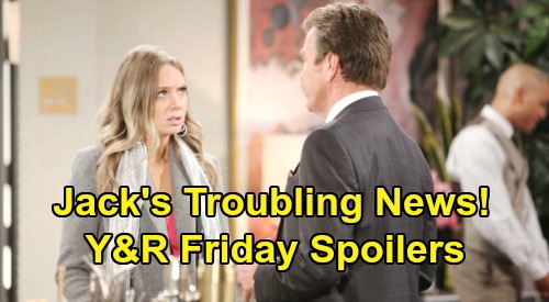 The Young and the Restless Spoilers: Friday, February 28 – Jack's Troubling News – Abby Pushed to Her Limit – Victoria's Prognosis