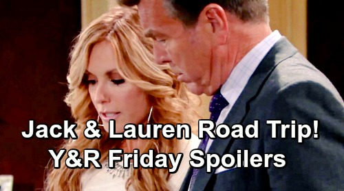 The Young and the Restless Spoilers: Friday, June 14 – Jack and Lauren's Risky Road Trip – Michael Demands Kevin Confess