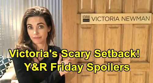The Young and the Restless Spoilers: Friday, March 27 – Victoria's Scary Setback – Victor's Dirty Details