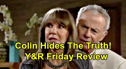 The Young and the Restless Spoilers: Friday, November 22 Review - Colin Hides New Will Pages Source - Theo's Hiring Stuns Kyle