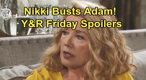 The Young and the Restless Spoilers: Friday, September 6 – Nikki's Discovery, Adam Caught Red-Handed – Chelsea and Abby's Party