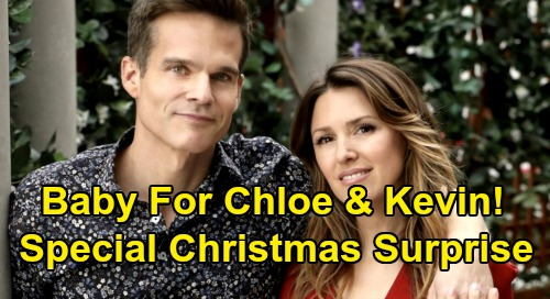 The Young and the Restless Spoilers: Chloe's Christmas Baby Surprise for Kevin – Elizabeth Hendrickson's Real Life Pregnancy Written In?