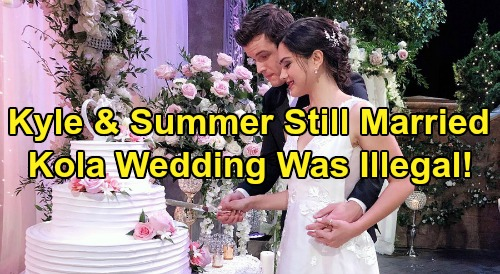 The Young and the Restless Spoilers: Summer & Kyle Still Legally Married, Ultimate Blow for Lola – 'Kola' Wedding Was Never Real?
