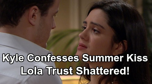 The Young and the Restless Spoilers: Kyle Confesses Kissing Summer, Lola's Trust Shattered – Business Trip Betrayal Blows Up 'Kola'