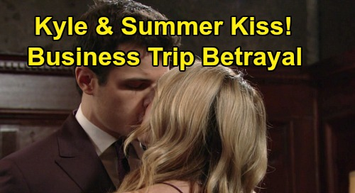 The Young and the Restless Spoilers: Kyle Kisses Summer, Betrays Lola During Business Trip – Exes Set Up Big Trouble for 'Kola'