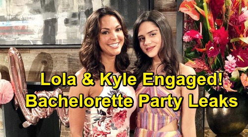 The Young and the Restless Spoilers: Leaked Bachelorette Party Shocker - Kyle and Lola's Whirlwind Engagement
