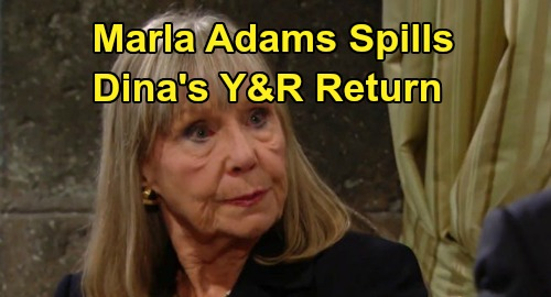 The Young and the Restless Spoilers: Marla Adams Teases More Dina Y&R Drama