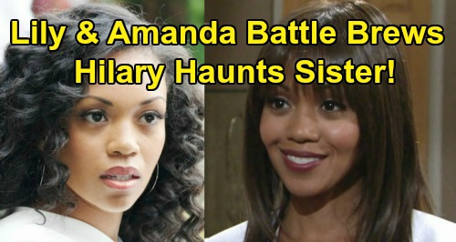 The Young and the Restless Spoilers: Lily and Amanda On Collision Course – Hilary Hamilton Haunts Sister's Life?