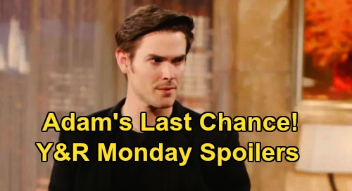 The Young and the Restless Spoilers: Monday, April 13 – Victoria Poisons Alyssa Against 'Chadam' – Victor Gives Adam Last Chance