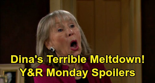 The Young and the Restless Spoilers: Monday, April 6 – Dina Heartbreaking Meltdown – Faith in Denial Over Sharon Operation