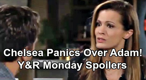 The Young and the Restless Spoilers: Monday, August 12 – Chelsea Panics Over Adam, Forms Getaway Plot – Meddling Victor's Bomb