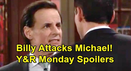 The Young and the Restless Spoilers: Monday, August 19 – Billy's Meltdown, Attacks Michael – Phyllis Grills Secretive Zoe