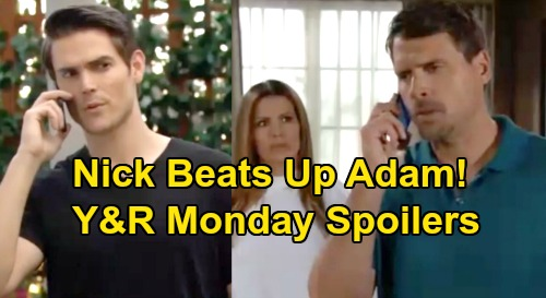 The Young and the Restless Spoilers: Monday, August 5 – Nick Loses It on Adam, Beats Up Brother After Christian Threat
