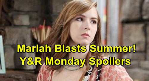 The Young and the Restless Spoilers: Monday, December 9 – Mariah Warns Summer Off Kyle - Amanda Haunts Devon - Chance's New Job