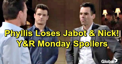 The Young and the Restless Spoilers: Monday, February 25 – Billy Plans Jabot CEO Takeover – Nick Throws Phyllis Out