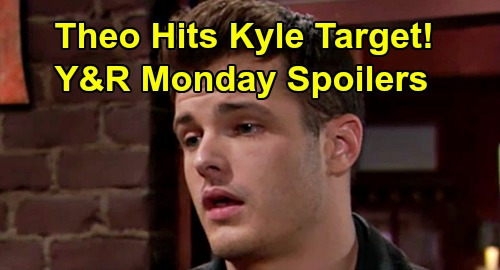 The Young and the Restless Spoilers: Monday, March 30 – Kyle Targeted by Dirt-Digger Theo – Billy and Victor's Fierce Faceoff