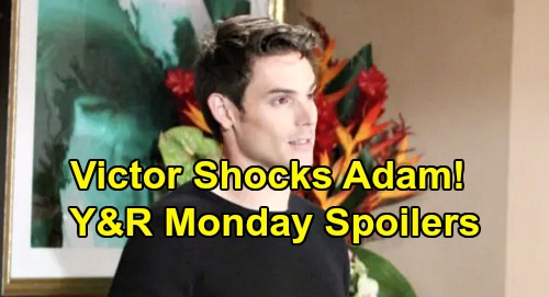 The Young and the Restless Spoilers: Monday, November 11 – Adam's Scary Simon Showdown – Livid Chance Accuses Cane – Amanda's Shocker
