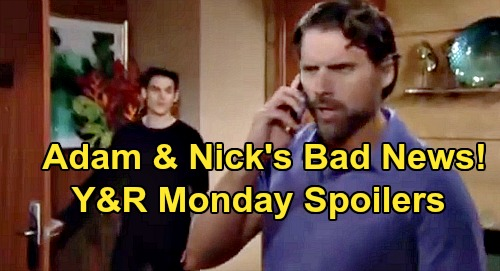 The Young and the Restless Spoilers: Monday, October 21 – Nick and Adam Get Bad News About Connor - Devon Blasts Amanda
