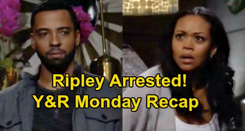 The Young and the Restless Spoilers: Monday, March 2 Recap – Ripley Arrested, Amanda's Murder Thwarted – Mariah Cheats, Tessa Walks In