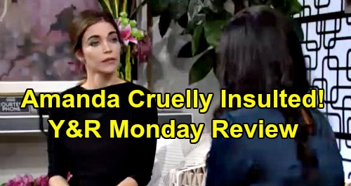 The Young and the Restless Spoilers: Monday, February 3 Review - Victoria Belittles Amanda - Kyle Tells Lola About Summer Cheat - Billy Comes Clean
